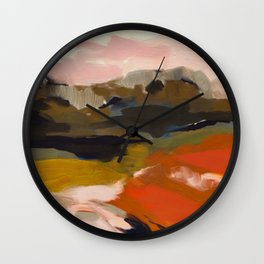 fall abstract landscape Wall Clock