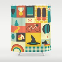 oz Shower Curtains featuring Oz by Ariel Wilson