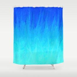 Icy Blue Blast Shower Curtain