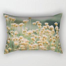 Vintage Chamomile Wildflowers Rectangular Pillow