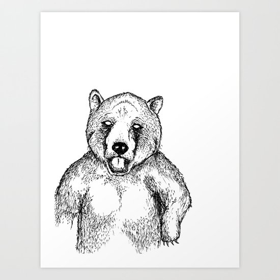 Cold Bear Art Print