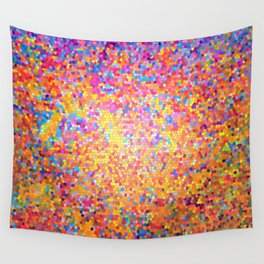 Mosaic-stained glass, abstract, vibrant, colourful Wall Tapestry