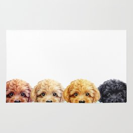 Toy poodle friends mix, original painting print by miart Rug
