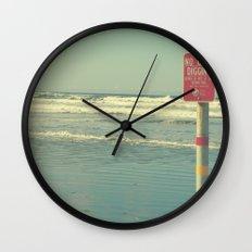 No Clam Digging Wall Clock