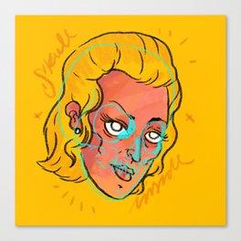 Yellow mind Canvas Print