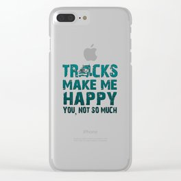 Trucks make me happy Clear iPhone Case