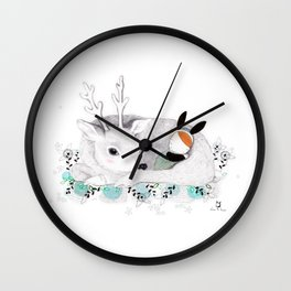 Goodnight my Deer Wall Clock
