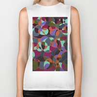 mosaic Biker Tanks featuring  Mosaic by Tony Vazquez