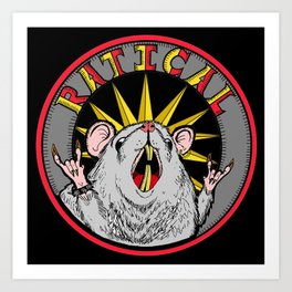 Ratical Art Print