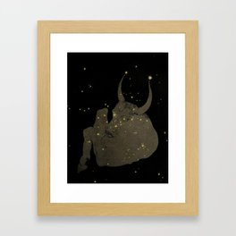 Taurus Constellation Framed Art Print