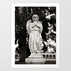 Praying angel Art Print