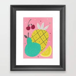 Tropical Fruits Framed Art Print