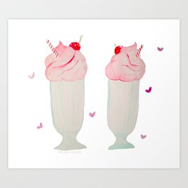 Shakes for Two Art Print