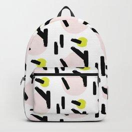 Beige circles Backpack