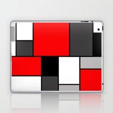 Red Black and Grey squares Laptop & iPad Skin