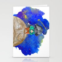 the little prince Stationery Cards featuring Little Prince by gunberk