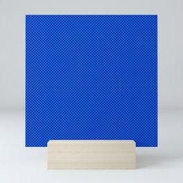 Blue and sea green squares Mini Art Print