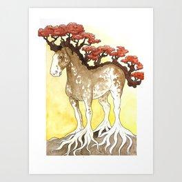 Horse Tree Art Print