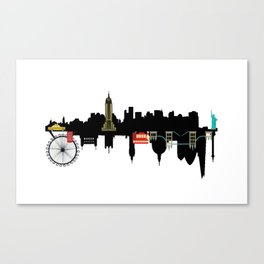 NYC and London Canvas Print