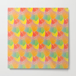 Multicolored Balloons Pattern Metal Print