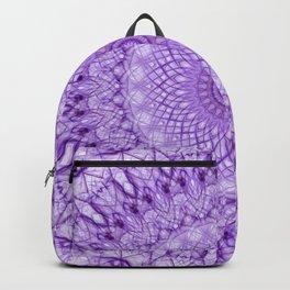 Purple web mandala Backpack