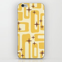 Retro Mid Century Modern Abstract Pattern 577 Yellow Brown iPhone Skin