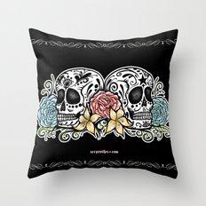 Dos Calaveras  Throw Pillow