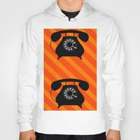 telephone Hoodies featuring telephone by vitamin