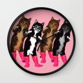 Dance Dance Cat Cat Wall Clock