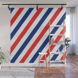 Barber Stripes Wall Mural