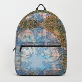 THE ORANGE AND BLUE OF ZION CANYON Backpack