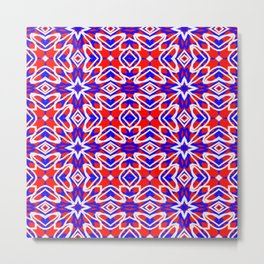 Red, White and Blue Crosses 243 Metal Print