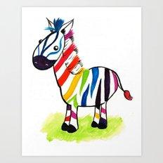 Colorful Zed Art Print