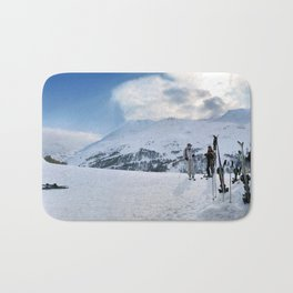 Ski Resort Mountain Landscape Bath Mat