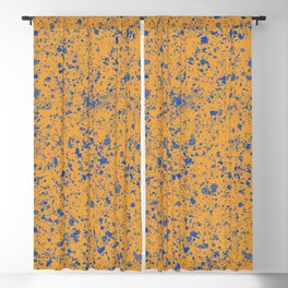 Abstract color mix Pollock Blackout Curtain