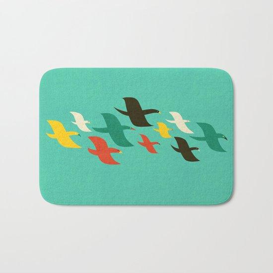 Birds are flying Bath Mat