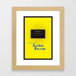 Jackie Brown minimalist movie poster Framed Art Print