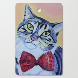 cat in a bow tie Cutting Board