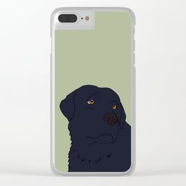 Black Labrador Retriever With Sad Eyes Clear iPhone Case