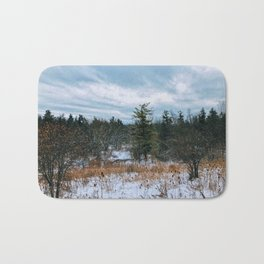 Vast field and forest Bath Mat