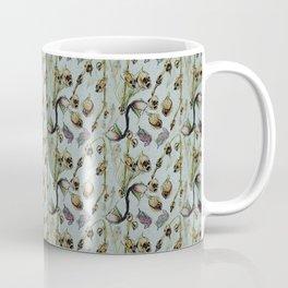 Dead Rose & Snapdragon Pattern Coffee Mug