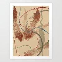 Brush Strokes Art Print