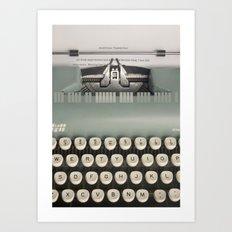 American Typewriter Art Print