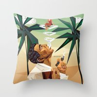 cuba Throw Pillows featuring cuba by DesignGeo