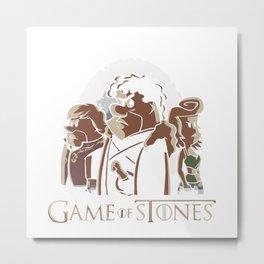 game of stone flintstone Metal Print