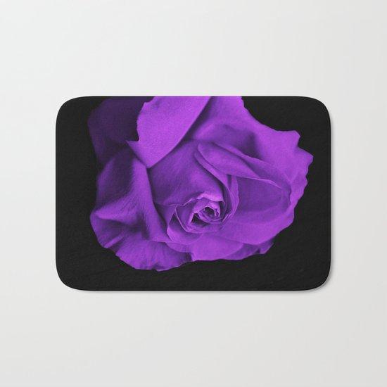 Rose violette purple Bath Mat