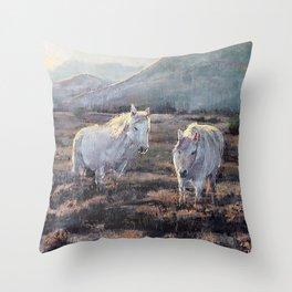 The Spirits of Horses Throw Pillow