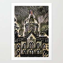 The Golden Dome Art Print