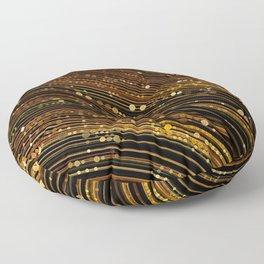 rox - abstract design rich brown rust copper tones Floor Pillow