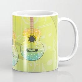 Polygonal guitar silhouette Coffee Mug